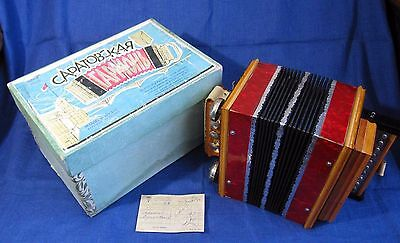 NEW Russian Garmon Garmoshka Button Accordion SARATOVSKAYA