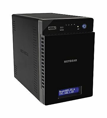 NETGEAR ReadyNAS 214 4-Bay Network Attached Storage for Personal Cloud with 4...
