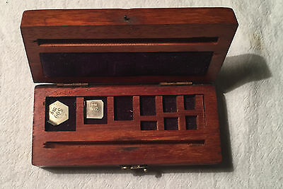 Apothecary weight partial set in GRAINS 500 & 200 - 19th century British in box