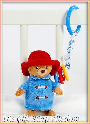 New Paddington Bear For Baby Jiggle Attachable Soft Plush Toy For Pram Cot Car