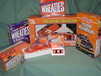 NASCAR #3 Dale Earnhardt Sr WHEATIES Collectibles RARE LOT Trackside/Cereal/Cars