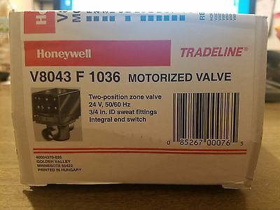 HONEYWELL V8043F1036 Motorized Zone Valve 3/4 24V