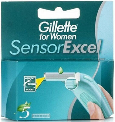 5 Cartridges Gillette Sensor EXCEL For Women Razor Blades FREE SHIPPING