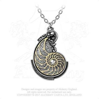 Alchemy Gothic Pendant FIBONACCI'S GOLDEN SPIRAL Necklace P799 Steampunk