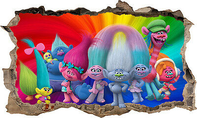 TROLLS 3D WALL STICKER  Home Decor