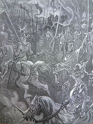 Legend of Croquemitaine by Gustave Dore Antique Print C. 1880 Charlemagne (144)