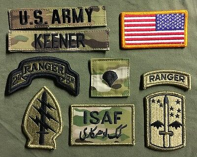 9 US ARMY patch Set Multicam OCP Special Forces Ranger Konvolut USA ISAF Flagge