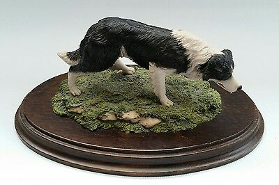 Vtg Country Artists Ornament Border Collie Sheep Dog Signed K Sherwin