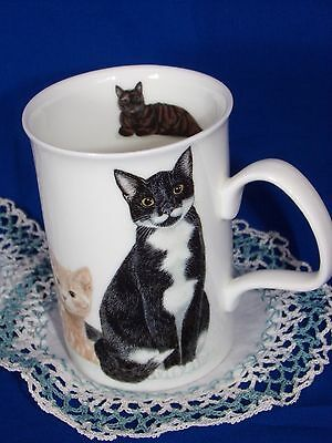 Cat Coffee Mug,   By Roy Kirkham,Cat's Calore.  Made in England  2005