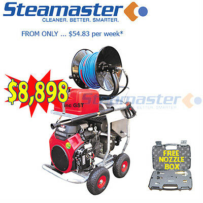 Sewer Drain Water Jetter Petrol Pressure Washer/Cleaner Steamaster 5000PSI@20LPM