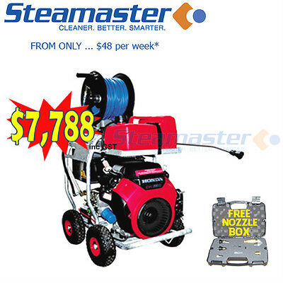 Sewer Drain Water Jetter Petrol Pressure Washer/Cleaner Steamaster 4300PSI@21LPM