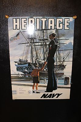 Vintage poster US NAVY Recruiting Poster HERITAGE