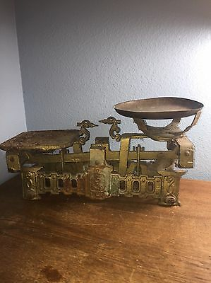 French Metal Scale//Antique//Vintage