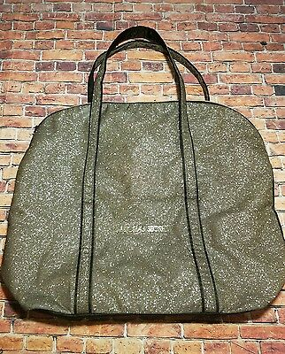 VICTORIAS SECRET Gold Glitter TOTE  Bag Duffle Weekender Purse Travel Gym Cute