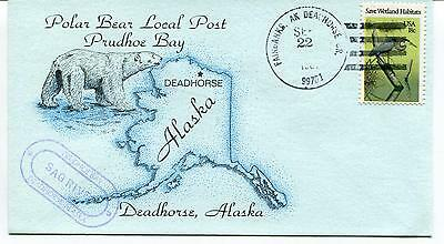 1981 Deadhorse Alaska Trudhoe Bay Polar Bear Local Post Polar Antarctic Cover