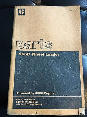 1981 Caterpillar 966D Wheel Loader Parts Book, Shop Manual Service