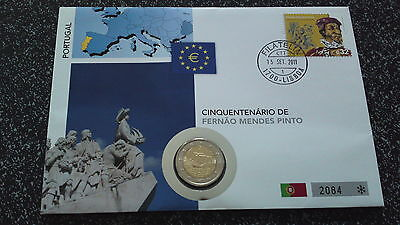 2 Euro Numisbrief Portugal 2011 Fernao Mendes Pinto - sehr selten