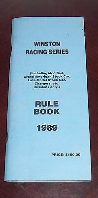 NASCAR Winston Racing Series  Rule Book and Bulletin 1989