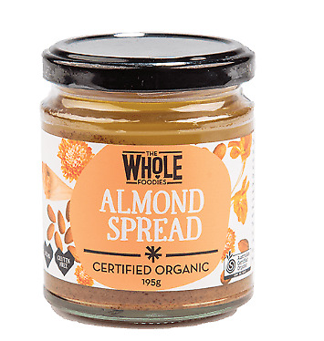 THE WHOLE FOODIES Almond Spread 195g