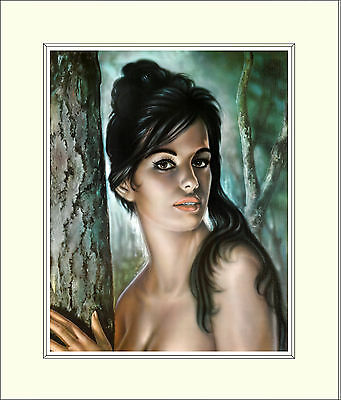 Tina by J H Lynch Tretchikoff Era - Vintage Kitsch 10 x 8 Inch Mounted Print