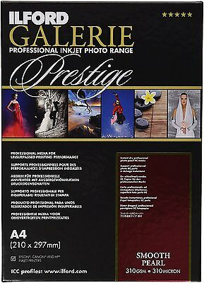 Ilford Galerie Prestige Smooth Pearl A4 310gsm inkjet photo paper - 25 sheets