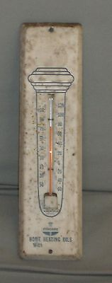 Nice Vintage Standard Oil Sta-Clean Torch Advertising Metal Working Thermometer