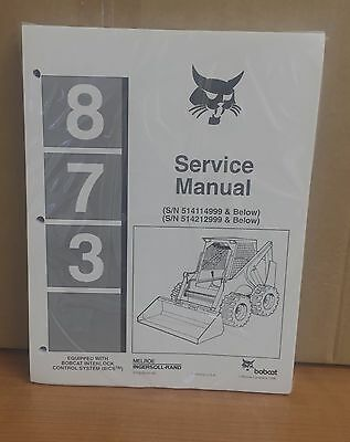 Bobcat 873 Skid Steer Loader Complete Shop Service Manual Repair 6724280