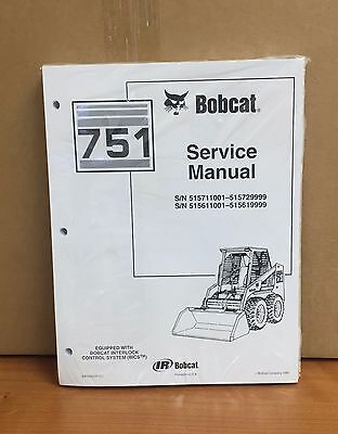 Bobcat 751 Skid Steer Loader Service Manual Shop Repair Book 6900443