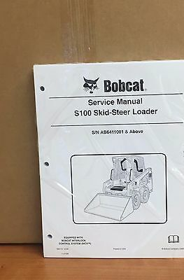 Bobcat S100 Skid Steer Loader Service Manual Shop Repair Book 6987131