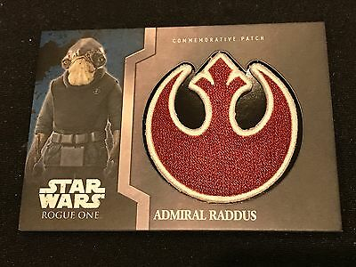 2016 Topps Star Wars Rogue One Patch Card Raddus Sp #4 Force New
