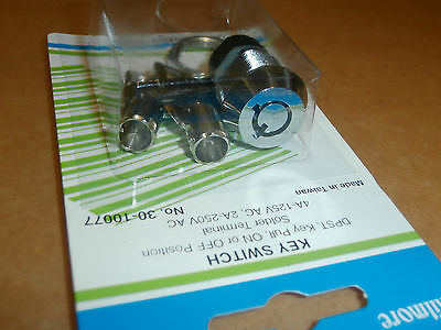 Ace Lock Round Key Switch, DPST,NIP