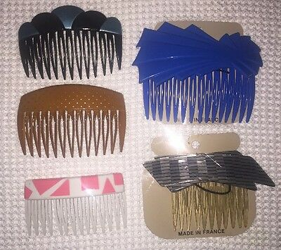 RX) 5 New Vintage French Karina Hair Combs