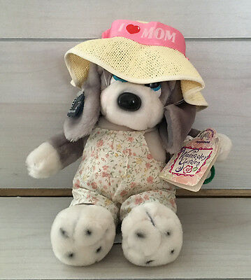 Vintage Applause Sad Sam Honey Puppy Dog Plush! w/Tags 10 Inch Watercolor Garden