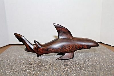 "Vtg Hand Carved Solid Ironwood ""Mako Shark"" Sonoran Folk Art Sculpture"