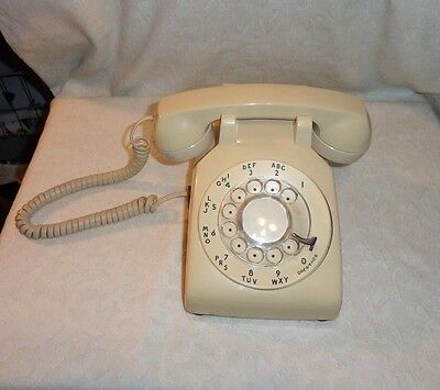 Vintage Western Electric 500 Dm Rotary Dial Desk Telephone