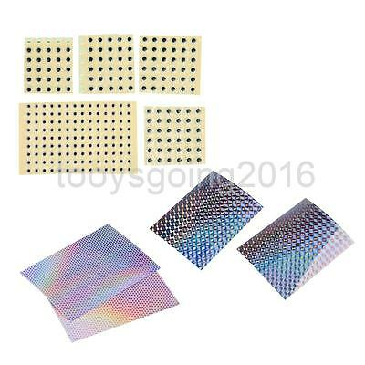 4Pcs Fishing Lure Tape Prism Reflective Fish Scale +Holographic 3D Fish Eyes