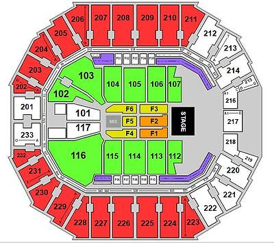2 Red Hot Chili Peppers *FLOOR* tickets Spectrum Center 4/17/2017