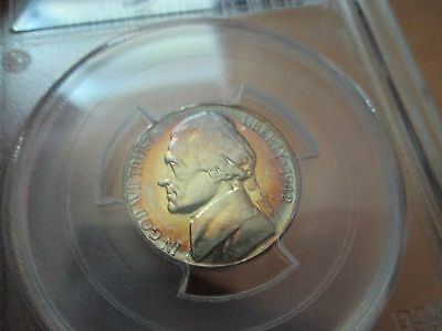 1942-S JEFFERSON 5C PCGS MS 65 TONED Colorful Silver War Nickel