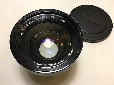 Canon C-8 Wide Angle Converter 0.65X Lens I Can be Adapted 48mm Diameter Lens