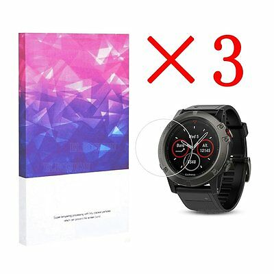 For Garmin Fenix 5X High Definition Film Screen Protector 9H Hardness (3 Packs)