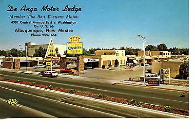 De Anza Lodge Motel-Highway Route 66-Albuquerque-New Mexico-Vintage Adv Postcard