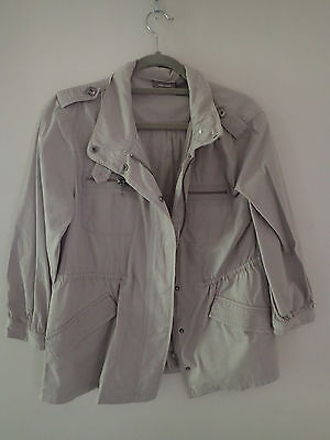 Sussans trench jacket size 12 beige stone maternity friendly