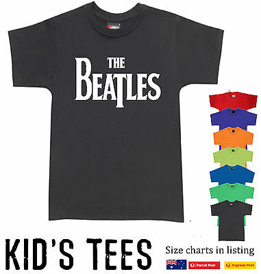 The Beatles band logo prints T-Shirt Children Kid's new Size Charts Aussie store