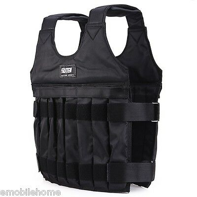 10kg Max Loading Weighted Vest Adjustable Jacket  Boxing Training Waistcoat