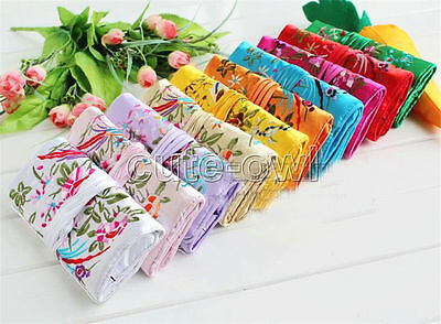 5pcs/lot Fashion Chinese Style Handmade Silk Embroidered Jewelry roll Bags Pouch