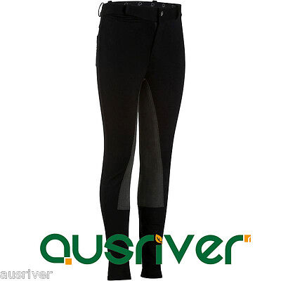 Junior Jodhpurs Breeches Children Horse Riding Pants Black Clothing 6yrs-14yrs