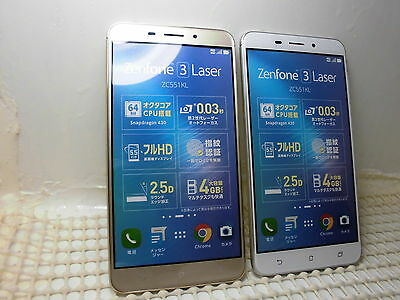 ASUS Zenfone3 Laser ZC551KL Non-working Display Phone 2 color set from japan
