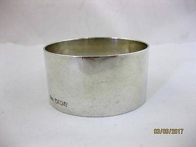 Solid Silver  HEAVY PLAIN NAPKIN RING  Hallmarked SHEFFIELD 1961