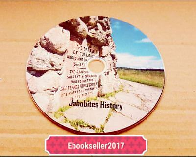 Jacobites History 70 + Vintage ebooks on disc PDF for PC and Kindle Format