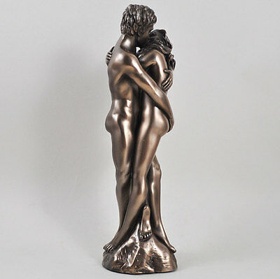 """ As One "" Man / Lady Cold Cast Bronze Sculpture / Figurine.New."